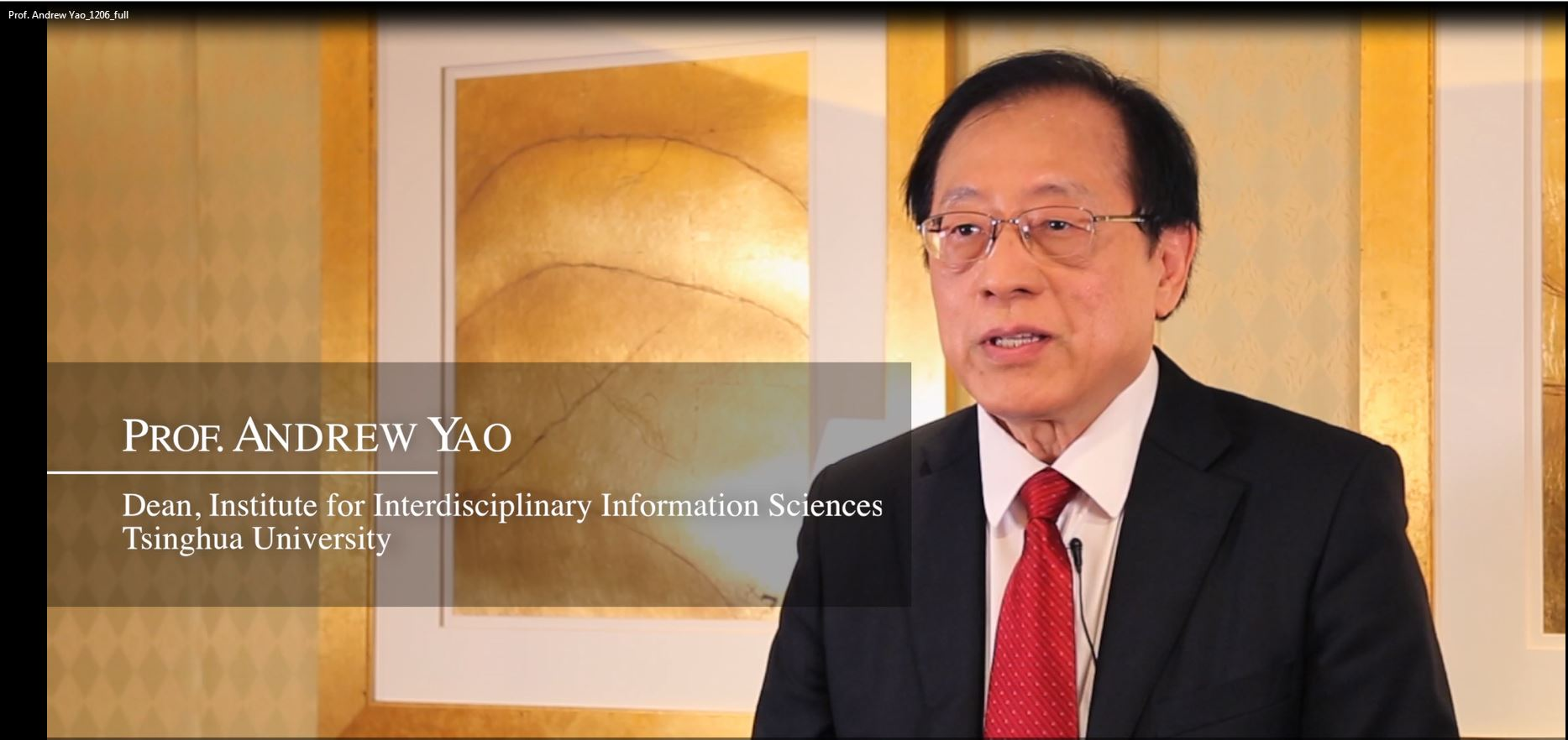 Interview with Prof. Andrew Yao, a member of the Prize Recommendation Committee of the LUI Che Woo Prize